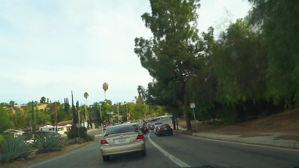 Mulholland Dr Southboard, from Ventura - Valley Circle