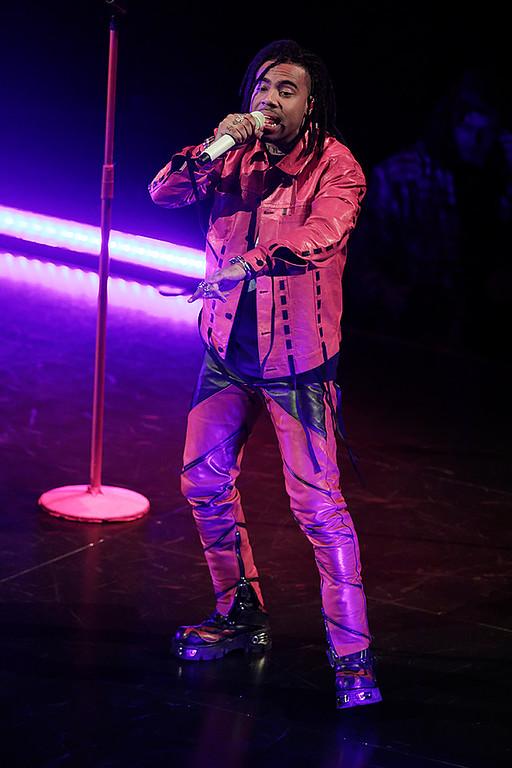 . Vic Mensa live at Little Caesars Arena on 11-18-2017.  Photo credit: Ken Settle