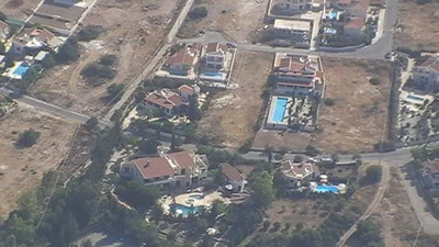 Sue & Dave's Villa in Cyprus taken from 3000ft