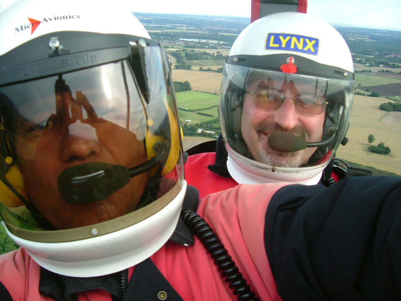 Jay takes Alan for his first flight - 2006