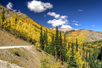 On the Alpine Loop trail.