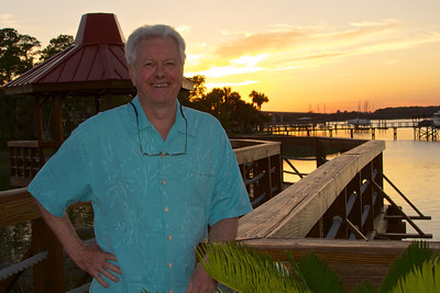 Inter-coastal waterway,  at the Sunset grill