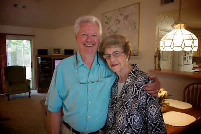 Jay with his Aunt Jane, Warner Robbins, Georgia