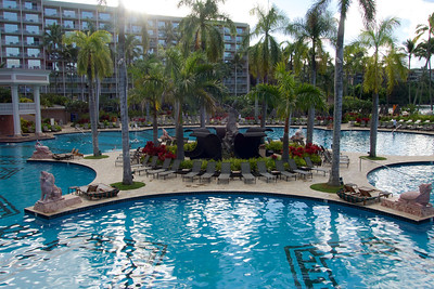 The pool area at the Marriott Resort.