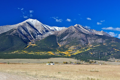 Mount Princeton(14,197 ft) just west of Buena Vista