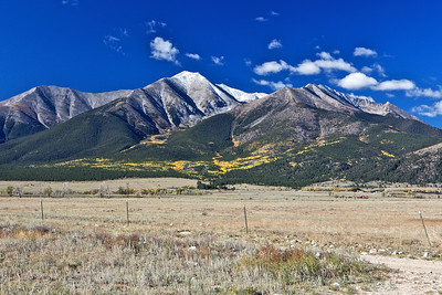 Mount Princeton (14,197 ft) just west of Buena Vista