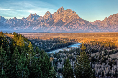 Taken at sunrise at Snake River overlook.