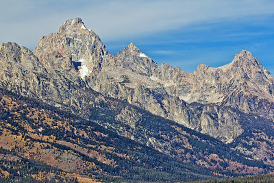 Grand Tetons as seen from the south part of park.