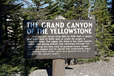 Grand Canyon of Yellowstone, check out the video for a visual and audio delight.