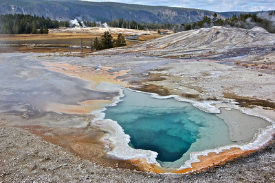 Additional geyser pools in Yellowstone.