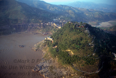 Mountain top near Fengjie, China, now underwater from the Three Gorges Dam