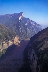 Qutang Gorge China before the Three Rivers Dam in October 1995.