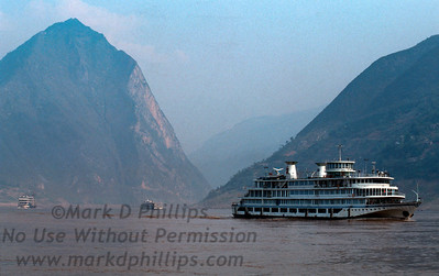 The Great China Skywalk took place in Qutang Gorge above the Yangtze River near Fengjie, China, on October 28, 1995.