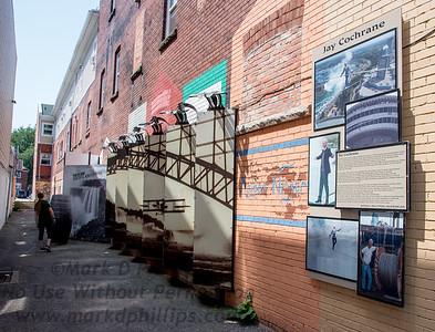 Jay Cochrane display in Niagara Falls on Daredevil Alley