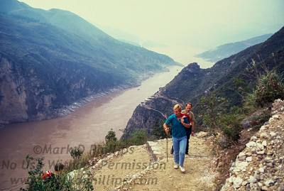 Jay Cochrane hikes to the top of Qutang Gorge in 1995 with Mike Wilson and Rik Paulsen where he completed the great China Skywalk crossing over the Yangtze River from canyon wall to canyon wall.