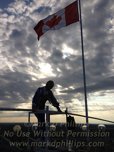 Jay Cochrane atop the Skylon Tower for one of his final performances in Niagara Falls, Canada