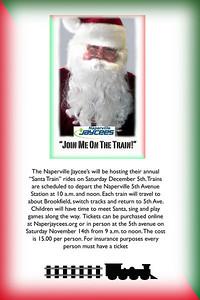 Santa Train Poster