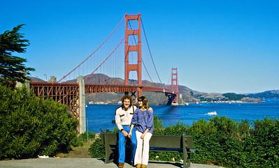 Jeff & Jan at the Golden Gate bridge