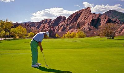 Art golfing at Arrowhead golf course