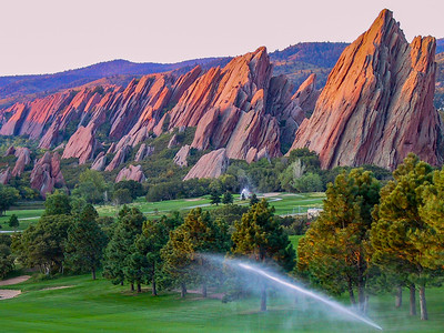 Nothing like sunrise Golf in Colorado