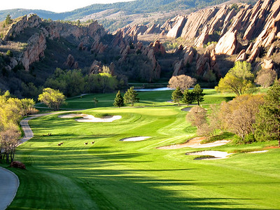 Arrowhead Golf Course with deer in fairway