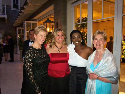 Lynn, Sandy, Kercedric, Donna at the formal awards ceremony