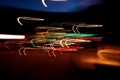Light Painting  with my camera at night