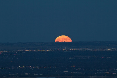 Moonrise over Denver, July 2010