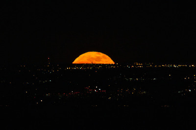 Full Moonrise over Denver January 2012