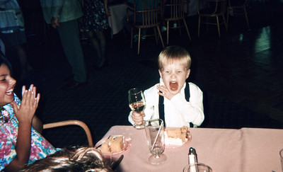 Thomas at the reception