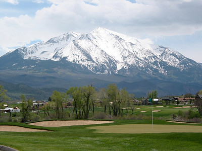 April 2003, Carbondale Colorado Golf course, looking at Mount Sopris.