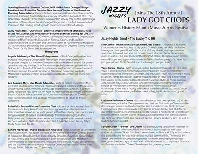 Inside jazzy Nights Womens History Month Celebration 202 by Gregory burrus Wo Flyer