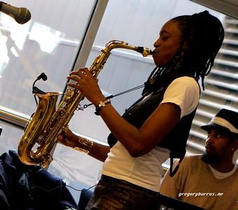 20170405 Jazzy Saxophonist LaKecia Benjamin Band WBGO  38 YR -041