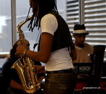 20170405 Jazzy Saxophonist LaKecia Benjamin Band WBGO  38 YR -033