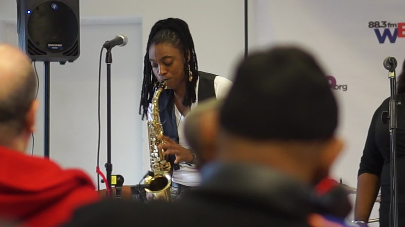 I Pray to Merengue  Dance with Jazzy Saxophonist LaKecia Benjamin Band WBGO  38 YR - 2 Gateway Center MAH00200