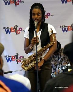 20170405 Jazzy Saxophonist LaKecia Benjamin Band WBGO  38 YR -049