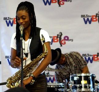 20170405 Jazzy Saxophonist LaKecia Benjamin Band WBGO  38 YR -047