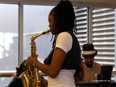 20170405 Jazzy Saxophonist LaKecia Benjamin Band WBGO  38 YR -032