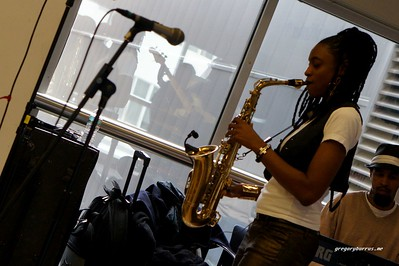 20170405 Jazzy Saxophonist LaKecia Benjamin Band WBGO  38 YR -042