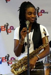 20170405 Jazzy Saxophonist LaKecia Benjamin Band WBGO  38 YR -050