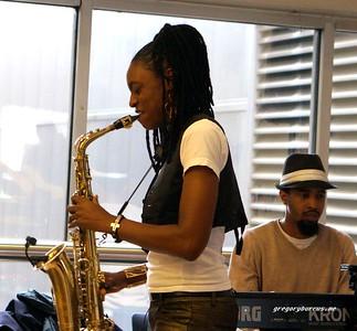 20170405 Jazzy Saxophonist LaKecia Benjamin Band WBGO  38 YR -043