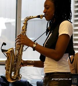 20170405 Jazzy Saxophonist LaKecia Benjamin Band WBGO  38 YR -044