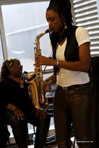 20170405 Jazzy Saxophonist LaKecia Benjamin Band WBGO  38 YR -031