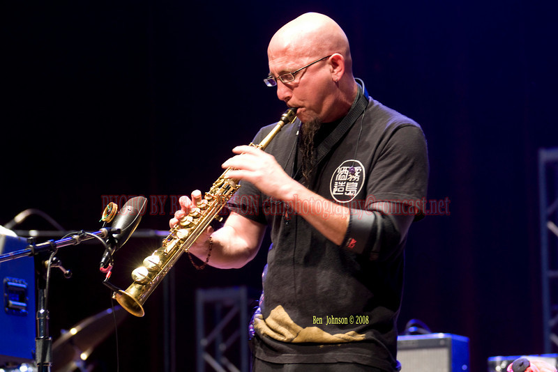 Jeff Coffin appearing with Bella Fleck & The Flecktonesappearing at The Mann Center For The Performing Arts in Philadelphia PA on August 5, 2008