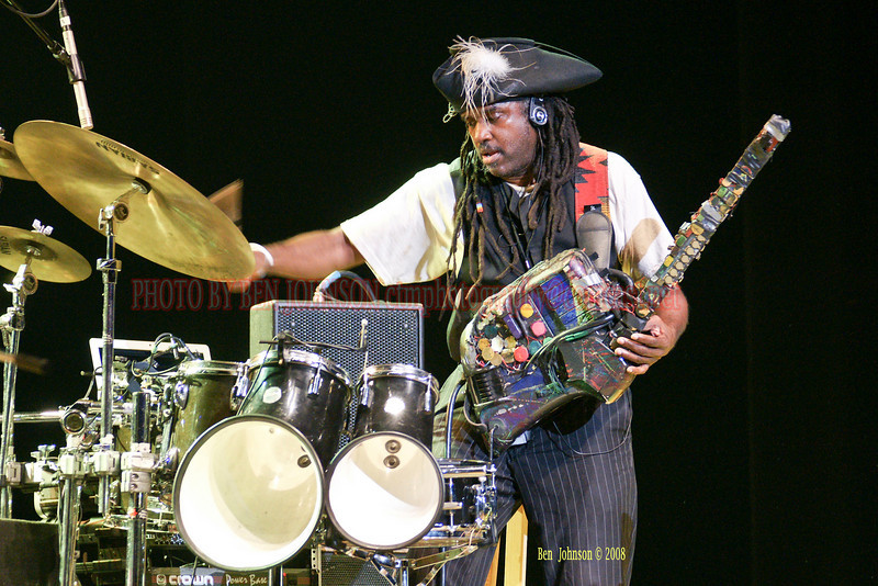 Roy Wooten - 'Future Man' performing with Bella Fleck & The Flecktonesappearing at The Mann Center For The Performing Arts in Philadelphia PA on August 5, 2008