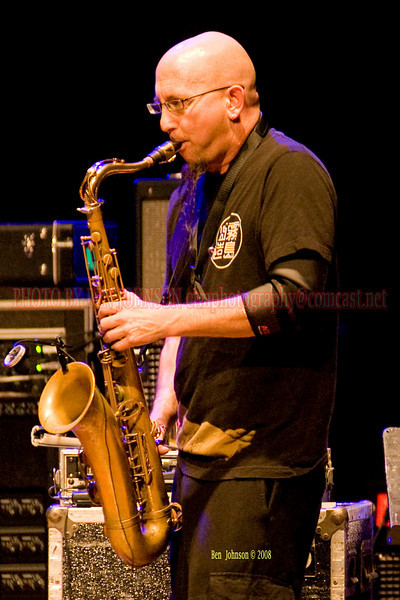 Jeff Coffin performing with Bella Fleck & The Flecktones appearing at The Mann Center For The Performing Arts in Philadelphia PA on August 5, 2008