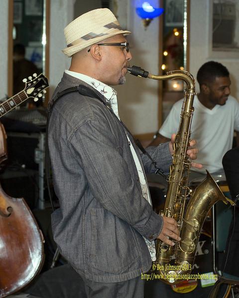 Etienne Charles performing at La Rose Jazz Club in Philadelphia July 27, 2013
