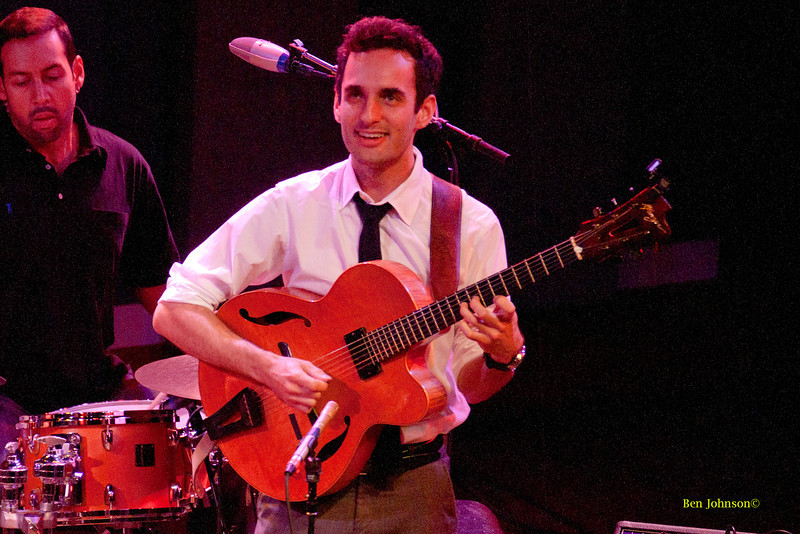 Julian Lage photo - with Gary Burton  appearing at World Cafe Live in Philadelphia, PA on Septemer 25, 2011