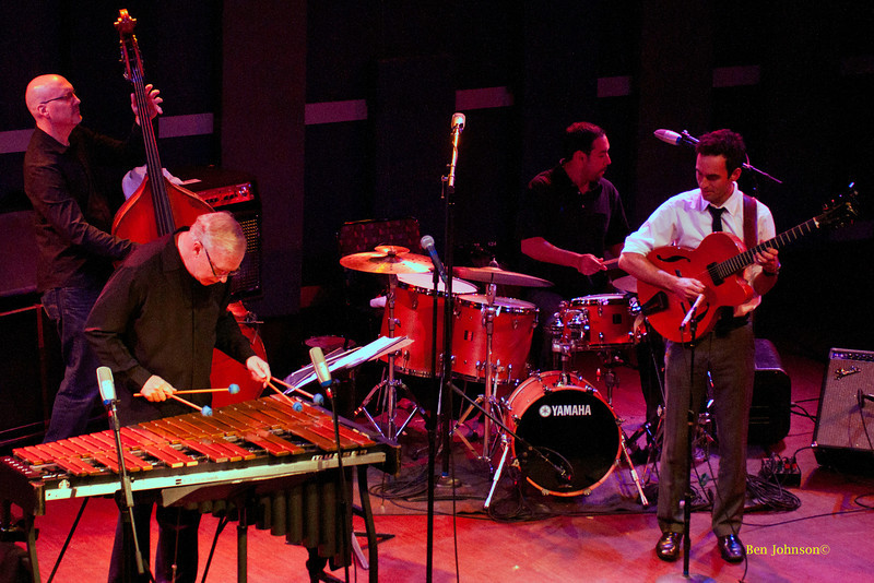 Gary Burton Quartet photo - with Julian Lage-Guitar, Antonio Sanchez-Drums, Scott Colley-Bass appearing at World Cafe Live in Philadelphia, PA on Septemer 25, 2011