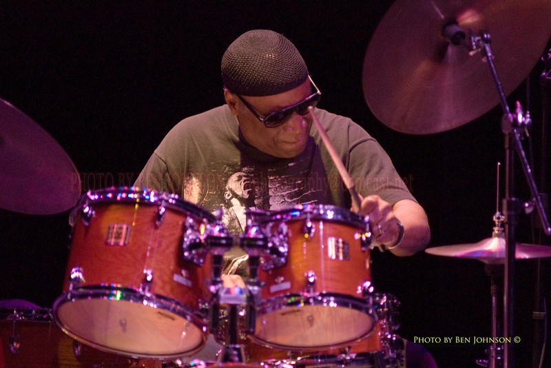 Rashied Ali performing with Henry Grimes at The Gorddon Theater, Rutgers State College, Camden Campus, Camden, New Jersey February 7, 2000